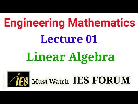 GATE Engineering Mathamatics Lecture 01 for GATE IES and Graduate Level Exam