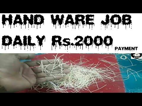 Hand ware job Delhi Daily 2000 payment