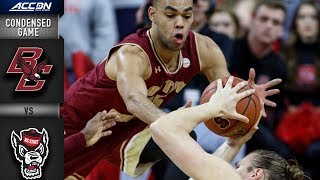 Boston College vs. NC State Condensed Game | 2018-19 ACC Basketball