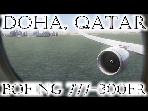 FSX | Qatar Airways 777 Landing at Hamad Int