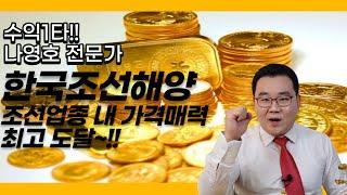 한국조선해양, 조선업종 내 가격 매력 최고 도달~!!