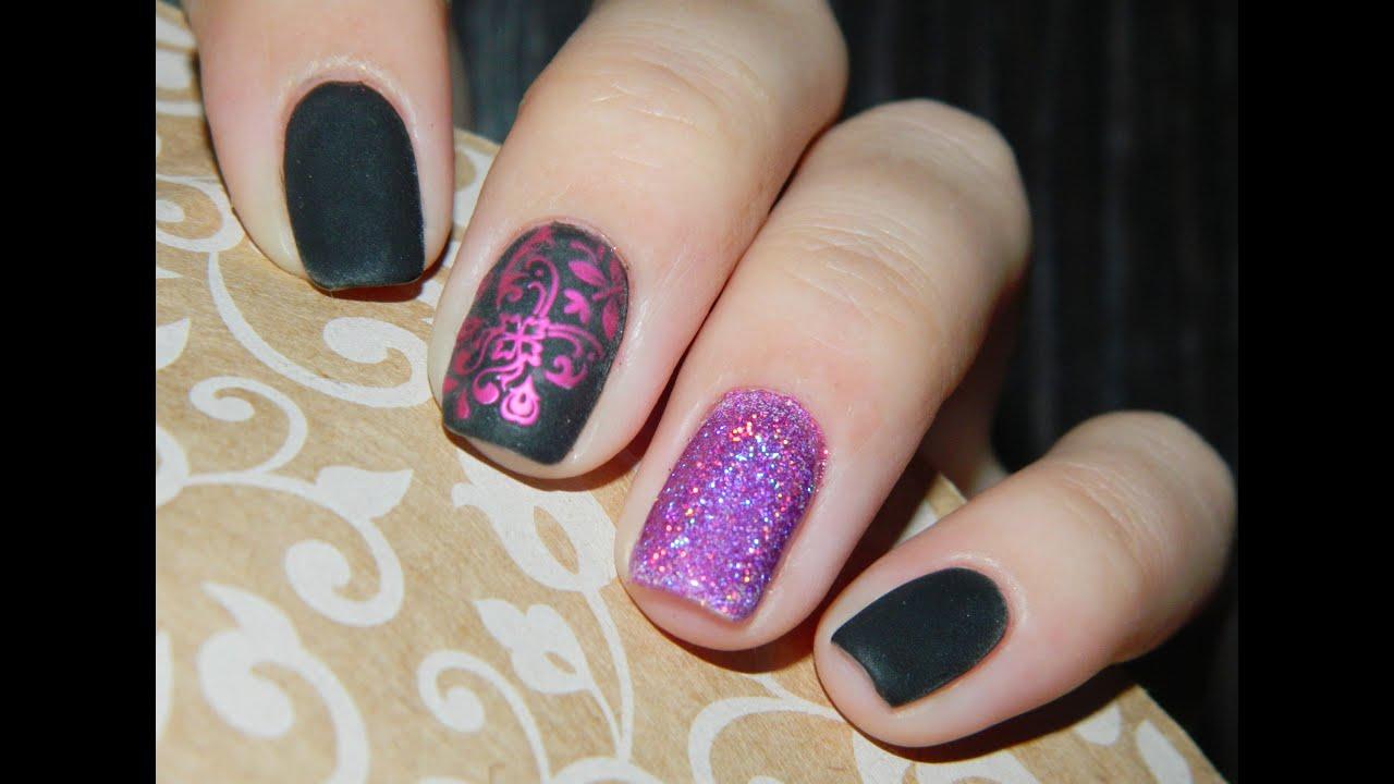 Дизайн ногтей втирка блестками