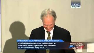 Lincoln Chafee thinks the metric system is a good campaign issue