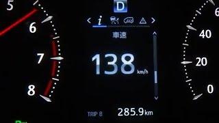 【ヴェルファイア V6 3.5L 0-138km/h加速】全開テスト      (アルファード30系)