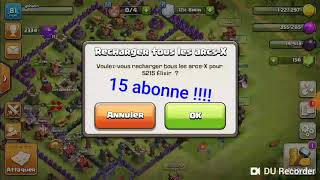 Clash of clans les jeux de clans on commencer !!