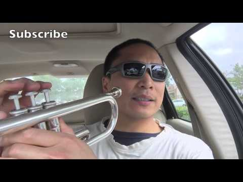 Tutorial on how to play Amazing Grace on the trumpet, here in Southern Sunny California