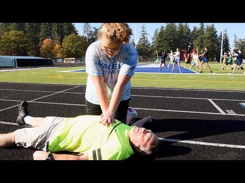 Staying Alive: Valley Catholic School Hands-Only CPR/AED