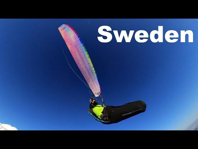 Paragliding Åre Sweden jan 2021