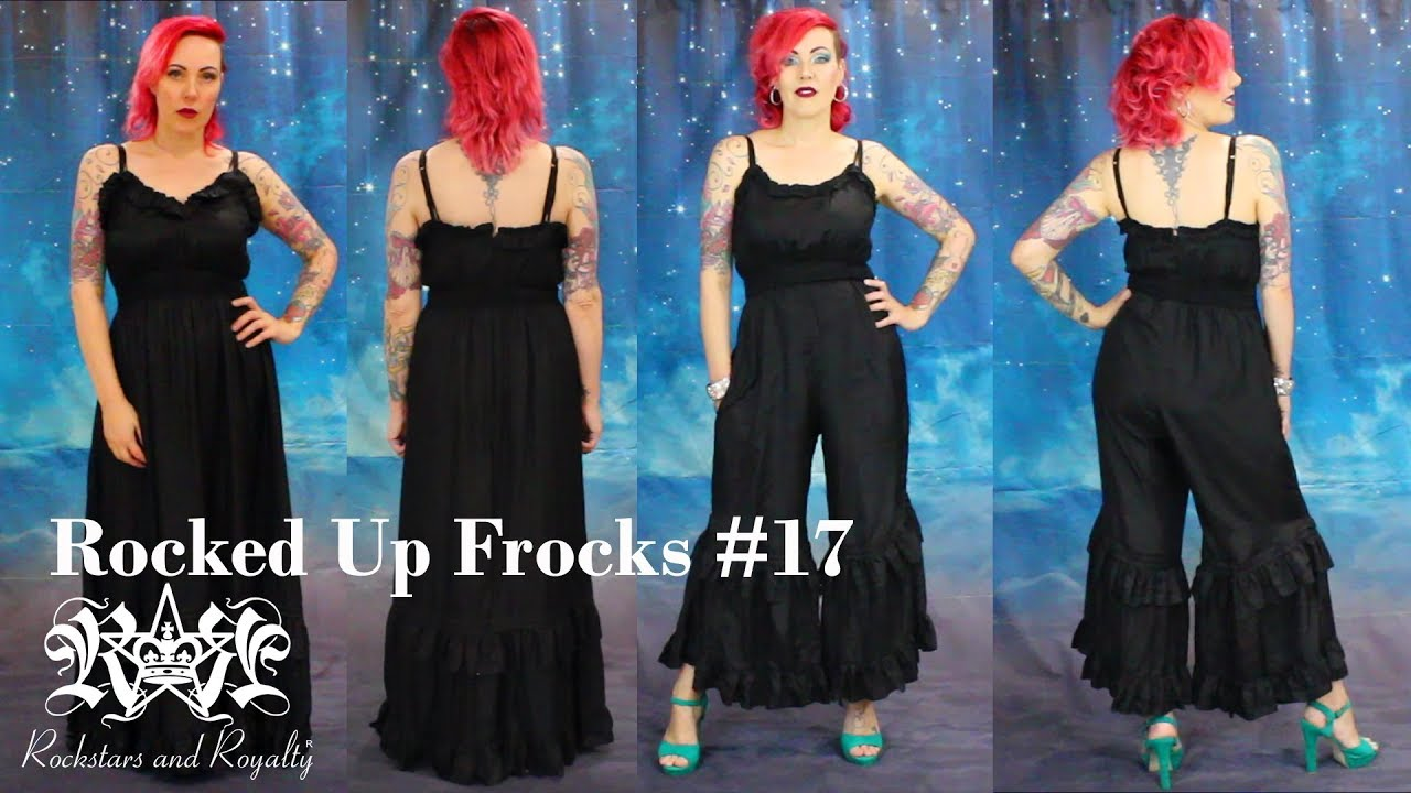 Dress To Jumpsuit Transformation | Rocked Up Frocks #17 by ...