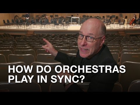 How do orchestras play in sync? Tom Allen explains!