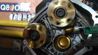 Двигатель Ауди А6 3.2 FSI(закачка масла в систему после замены цепей, натяжителей, башмаков и гидромуфт изменения фаз., 2016-02-04T06:48:13.000Z)