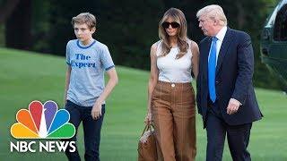Melania And Barron Trump Finally Move Into White House   NBC News