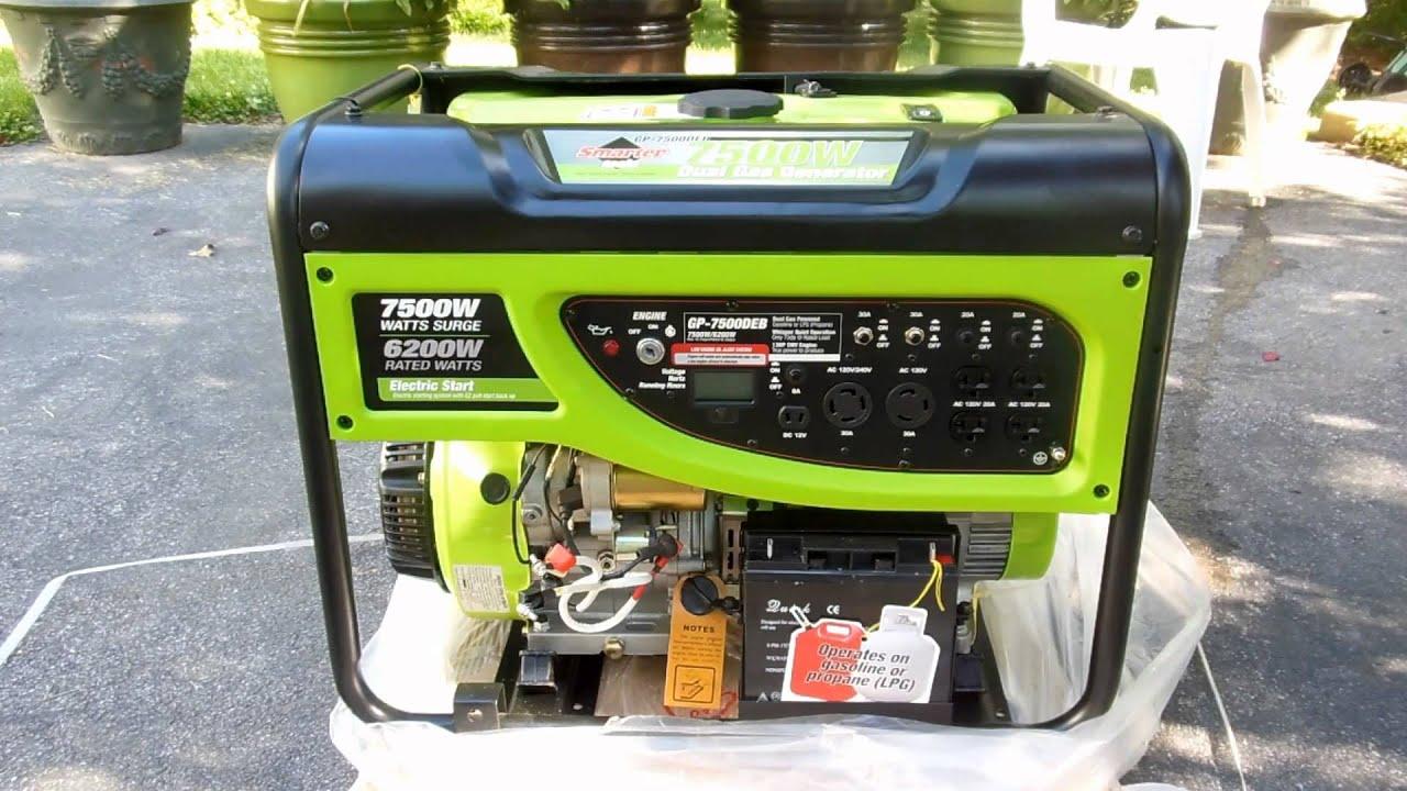 REVIEW Dual Fuel Generator Propane & Gasoline Smarter Tools