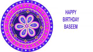 Baseem   Indian Designs - Happy Birthday