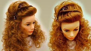 Причёска на длинные волосы. Локоны и классическая волна. Демонстрация урока онлайн обучения.