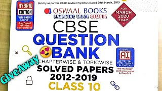 Oswaal CBSE class 10 mathematics solved question papers chapterwise and topicwise | Best Book ??