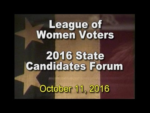 League of Women Voters Candidate Debate - 2016 State District 28 and 29