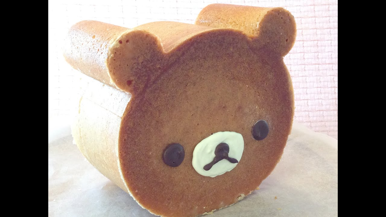 How to make cute rilakkuma bear cake doovi for Canape bread molds