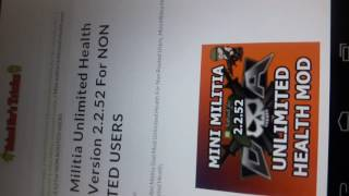 How To Hack Mini Militia 2.2.52 Version For Non Rooted Users Easest Way