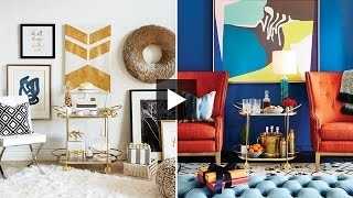 Interior Design — Holiday Party Must-have: The Bar Cart & How To Set One Up