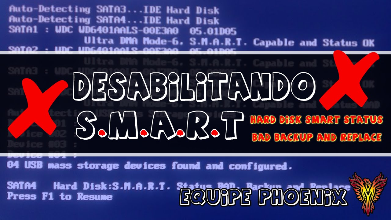 desabilitando s m a r t hard disk smart status bad backup and