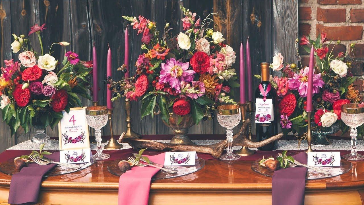 Dekoracje ślubne W Stylu Boho Kolekcja Kwiaty Boho Sklepslubny