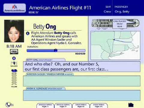 Betty Ong:  Flight 12