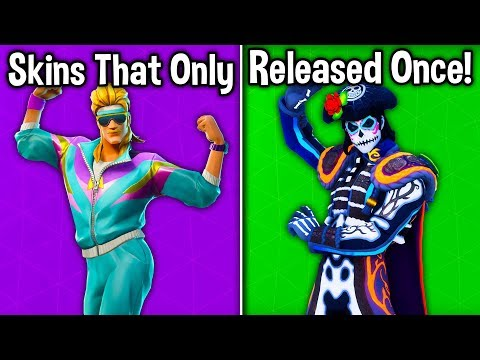 5 SKINS THAT ONLY RELEASED ONCE in the ITEM SHOP! (Fortnite Rare Skins)