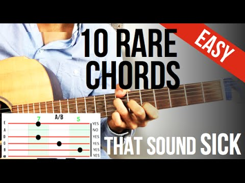 10 RARE but EASY Guitar Chords that sound SICK ! ! ! (no bar ) - YouTube