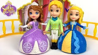 SOFIA THE FIRST DANCING SISTERS SHARE YOUR TALENTS WITH DISNEY PRINCESSES AMBER & SOFIA -UNBOXING