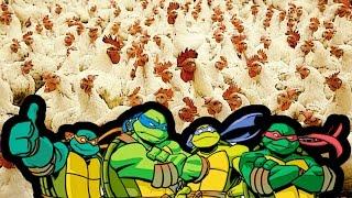 100.000 Tavuk VS. Ninja Kaplumbağalar (Efsanevi Savaş Simülatörü)