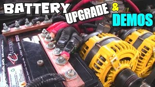 BIGGER Battery Upgrade w/ Custom Copper Terminals | Adding HPL75 Install & Multiple Car Audio Demos