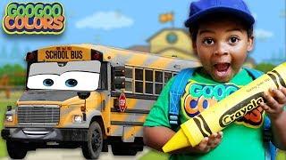 CRAYON CHANGE SCHOOL BUS DIFFERENT COLORS!