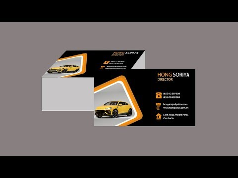 Rent a Car Business Card Design   KHTUBE KNOWLEDGE 2019