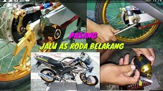 cara memasang Jalu as roda belakang universal di Yamaha Vixion old mudah banget lihat tutorial nya👍