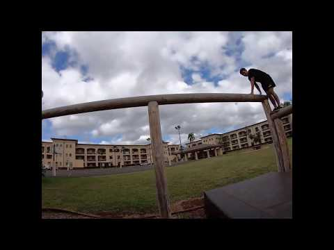 Army Obstacle Course At Schofield Barracks, Hawaii