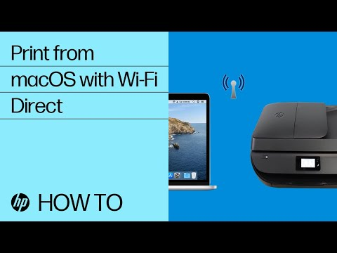 Print from a Mac to an HP Printer Using Wi-Fi Direct | HP Printers | HP