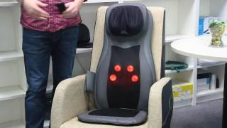 Naipo Full Back Massage Seat Cushion with Heat MGM-C11C
