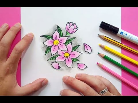 Como Dibujar Flores Paso A Paso 6 How To Draw Flowers 6 Youtube