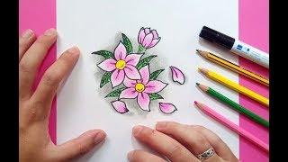 Como dibujar flores paso a paso 6 | How to draw flowers 6