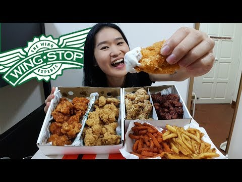 [MUKBANG] WINGSTOP CHICKEN WINGS FEAST!!