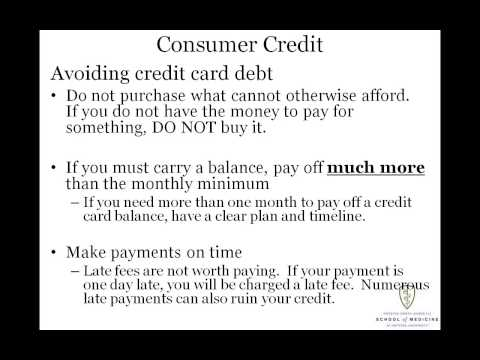 Consumer Credit and Your Credit Report