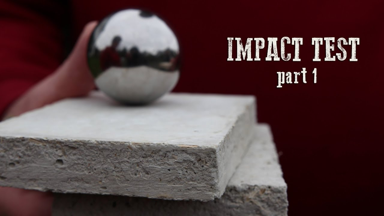 hemp adobe homes impact test part 1 youtube