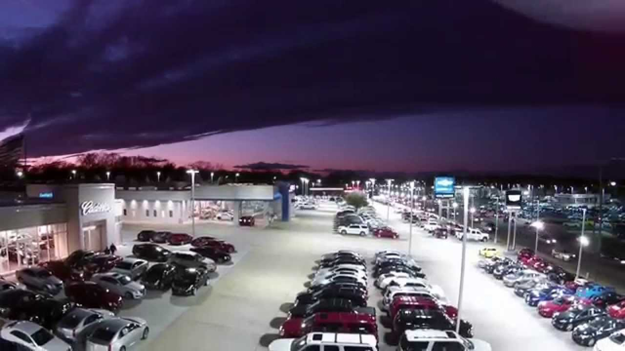 auto dealership led lighting kevin whitaker cadillac chevrolet youtube