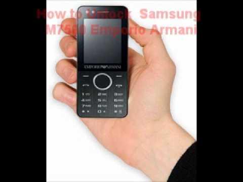 Samsung M7500 Emporio Armani Unlock Code - Free Instructions