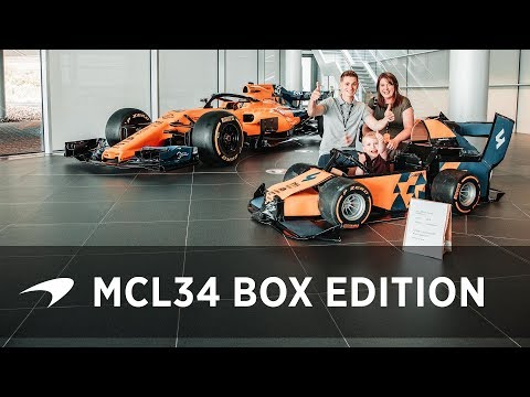 Logan and the MCL34 box