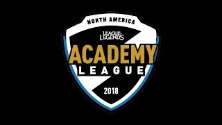 CLGA vs. 100A | Quarterfinals Day 2 | NA Academy Summer Split (2018)
