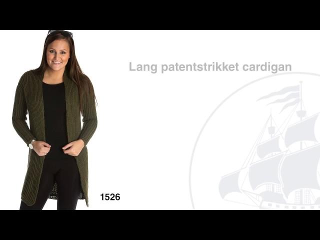 Opskrift 1526: Lang patentstrikket cardigan