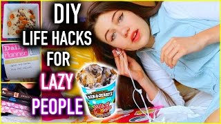 DIY Life Hacks for LAZY PEOPLE you NEED to know!