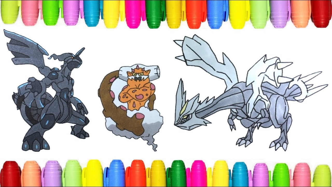 Pokemon Coloring Zekrom, Landorus and Kyurem